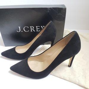 J. Crew Italy EVERLY 8.5 Black Suede Heels